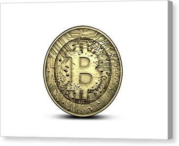 Bitcoin Physical Canvas Print by Allan Swart