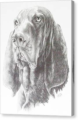 Black And Tan Coonhound Canvas Print