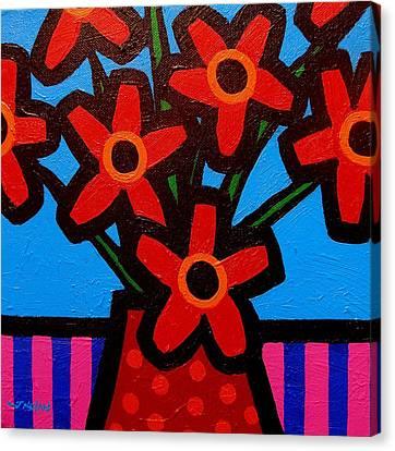 Black Eyed Flowers Canvas Print by John  Nolan