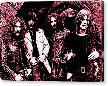 Rock Music Canvas Print - Black Sabbath Collection by Marvin Blaine