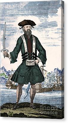 Blackbeard, Edward Teach, English Pirate Canvas Print by Science Source
