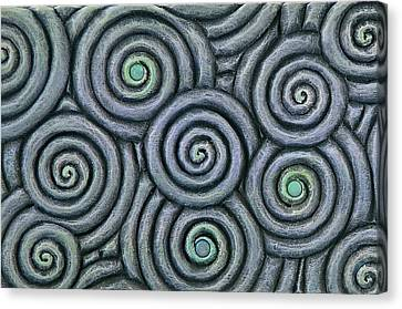Bleus En Spirale Canvas Print by Jacques Vesery