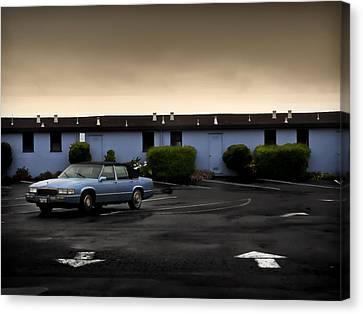 Blue Motel Canvas Print