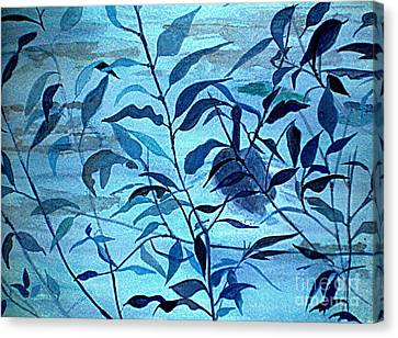 Blue On Blue Canvas Print by Vivian  Mosley