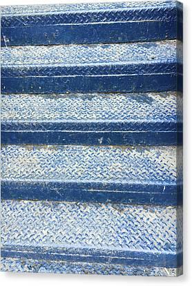 Floor Canvas Print - Blue Steps by Tom Gowanlock
