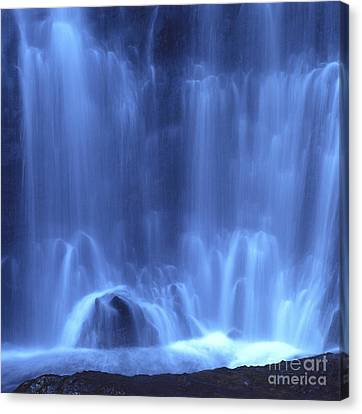 Transparency Canvas Print - Blue Waterfall by Bernard Jaubert