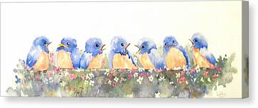 Bluebird Friends Canvas Print
