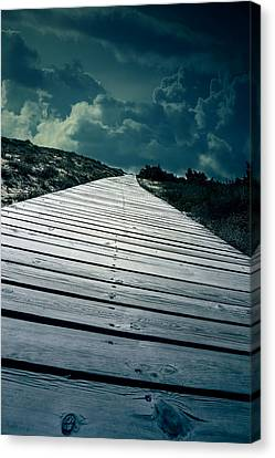 Frightening Canvas Print - Boardwalk by Joana Kruse