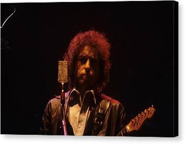 Bob Dylan Canvas Print by David Bishop