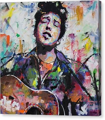 Bob Dylan Canvas Print by Richard Day