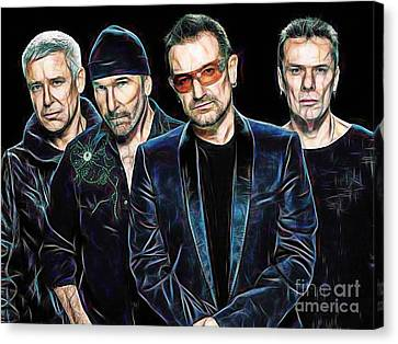Bono U2 Collection Canvas Print by Marvin Blaine