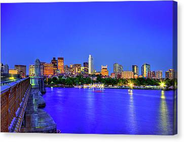 Boston Skyline From The Charles River Canvas Print
