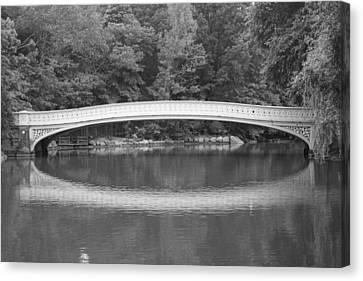 Bow Bridge Central Park Canvas Print by Christopher Kirby