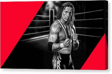 Bret Hart The Hitman Wrestling Collection Canvas Print