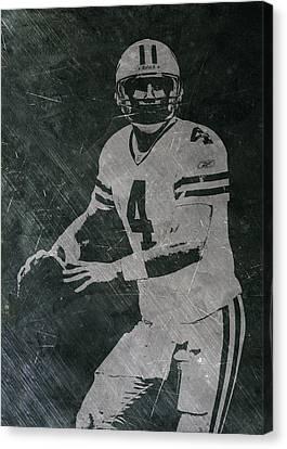 Brett Favre Packers Canvas Print by Joe Hamilton