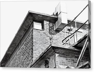 Brutalist Canvas Print - Brick Building by Tom Gowanlock