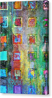 Bright Grunge Abstract Canvas Print by Tom Gowanlock