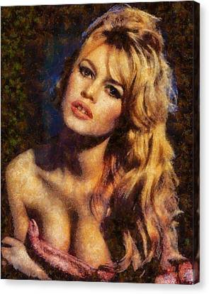 Brigitte Bardot Hollywood Actress Canvas Print by Esoterica Art Agency