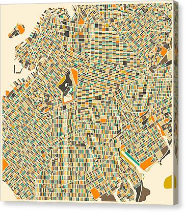 Brooklyn Map Canvas Print by Jazzberry Blue