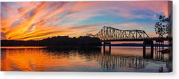 Browns Bridge Sunset Canvas Print by Michael Sussman