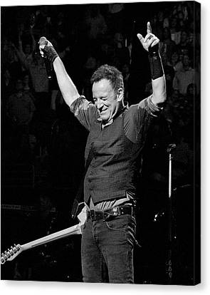 Musicians Canvas Print - Bruce Springsteen by Jeff Ross