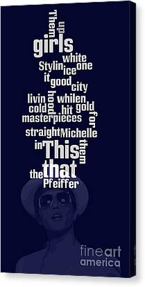 Musicos Canvas Print - Bruno Mars. Can You Order The Words? Can You Sort The Lyrics? by Pablo Franchi