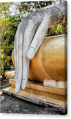 Canvas Print featuring the photograph Buddha Hand by Adrian Evans