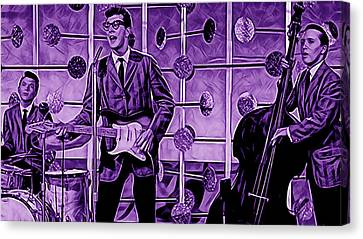 Cricket Canvas Print - Buddy Holly And The Crickets by Marvin Blaine