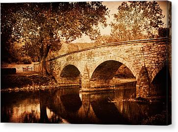 Burnside Bridge Canvas Print by Mick Burkey
