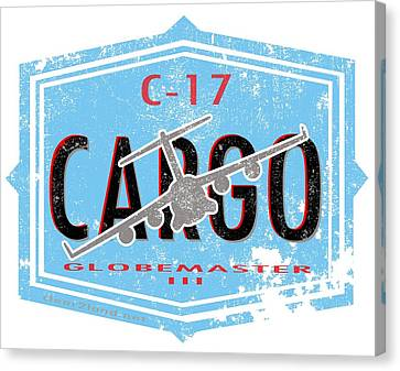 C-17 Cargo Canvas Print by Clear II land Net
