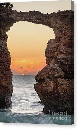 Cabo Rojo Arch Sunset Canvas Print
