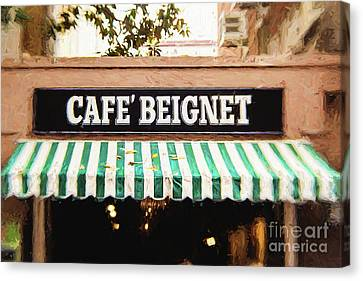 Cafe Beignet - Digital Painting Canvas Print