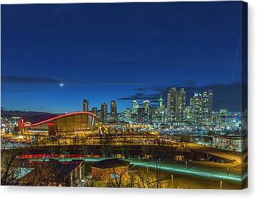 Canvas Print featuring the photograph Calgary, Alberta by Josef Pittner