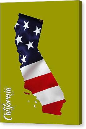 California State Map Collection Canvas Print by Marvin Blaine
