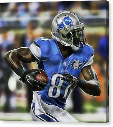 Football Canvas Print - Calvin Johnson Collection by Marvin Blaine