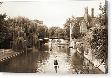 Cambridge River Punting Canvas Print by Eden Baed