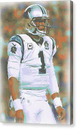 Carolina Panthers Cam Newton Canvas Print by Joe Hamilton