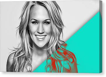 Carrie Underwood Collection Canvas Print