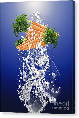 Carrot Splash Canvas Print by Marvin Blaine