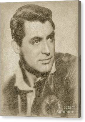 Cary Grant Hollywood Actor Canvas Print by Frank Falcon