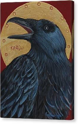 Caw Canvas Print by Amy Reisland-Speer