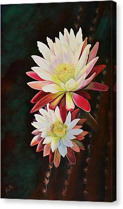 Canvas Print featuring the painting Cereus Business by Marilyn Smith