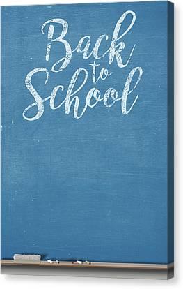 Chalk Board Split Canvas Print by Allan Swart