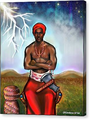 Shango Canvas Print by Carmen Cordova
