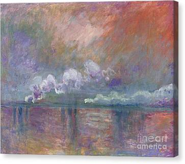 Charing Cross Bridge Canvas Print by Claude Monet