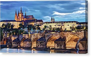 Charles Bridge And Prague Castle / Prague Canvas Print