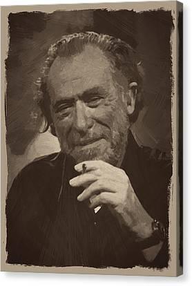 Charles Bukowski 2 Canvas Print by Afterdarkness