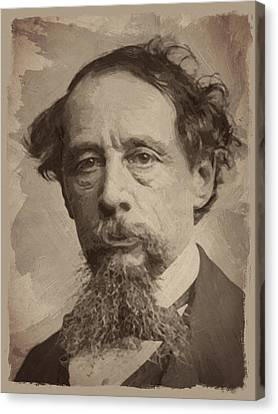 Charles Dickens 1 Canvas Print by Afterdarkness