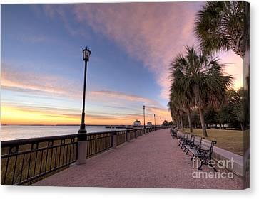 Canvas Print - Charleston Waterfront Park Sunrise  by Dustin K Ryan