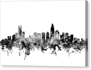 Charlotte North Carolina Skyline Canvas Print